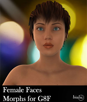 Female Faces Morphs for Genesis 8 Female 3D Figure Assets biala