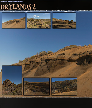 Photo Backgrounds: Drylands 2 2D Graphics ShaaraMuse3D
