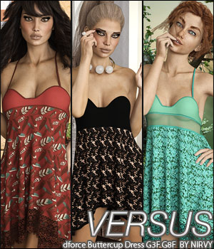 VERSUS - dforce Buttercup Dress G3F G8F 3D Figure Assets Anagord