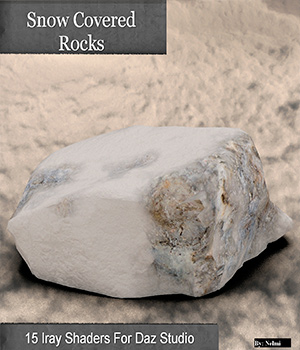 15 Snow Covered Rocks Iray Shaders - Merchant Resource 3D Figure Assets Merchant Resources nelmi