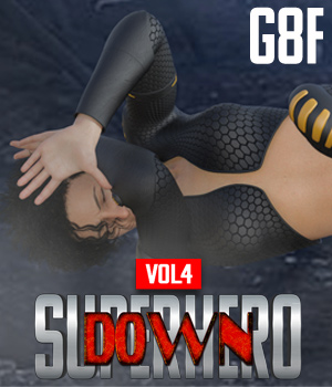 SuperHero Down for G8F Volume 4 3D Figure Assets GriffinFX