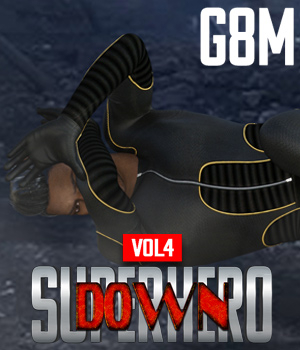 SuperHero Down for G8M Volume 4 3D Figure Assets GriffinFX