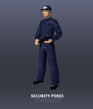 Security Poses for Genesis and Genesis 2 Male 3D Figure Assets Andrey_Pestryakov