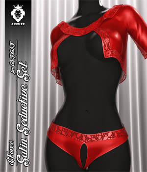 JMR dForce Satin Seductive Set for G3F and G8F 3D Figure Assets JaMaRe