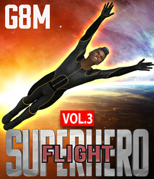 SuperHero Flight for G8M Volume 3 3D Figure Assets GriffinFX