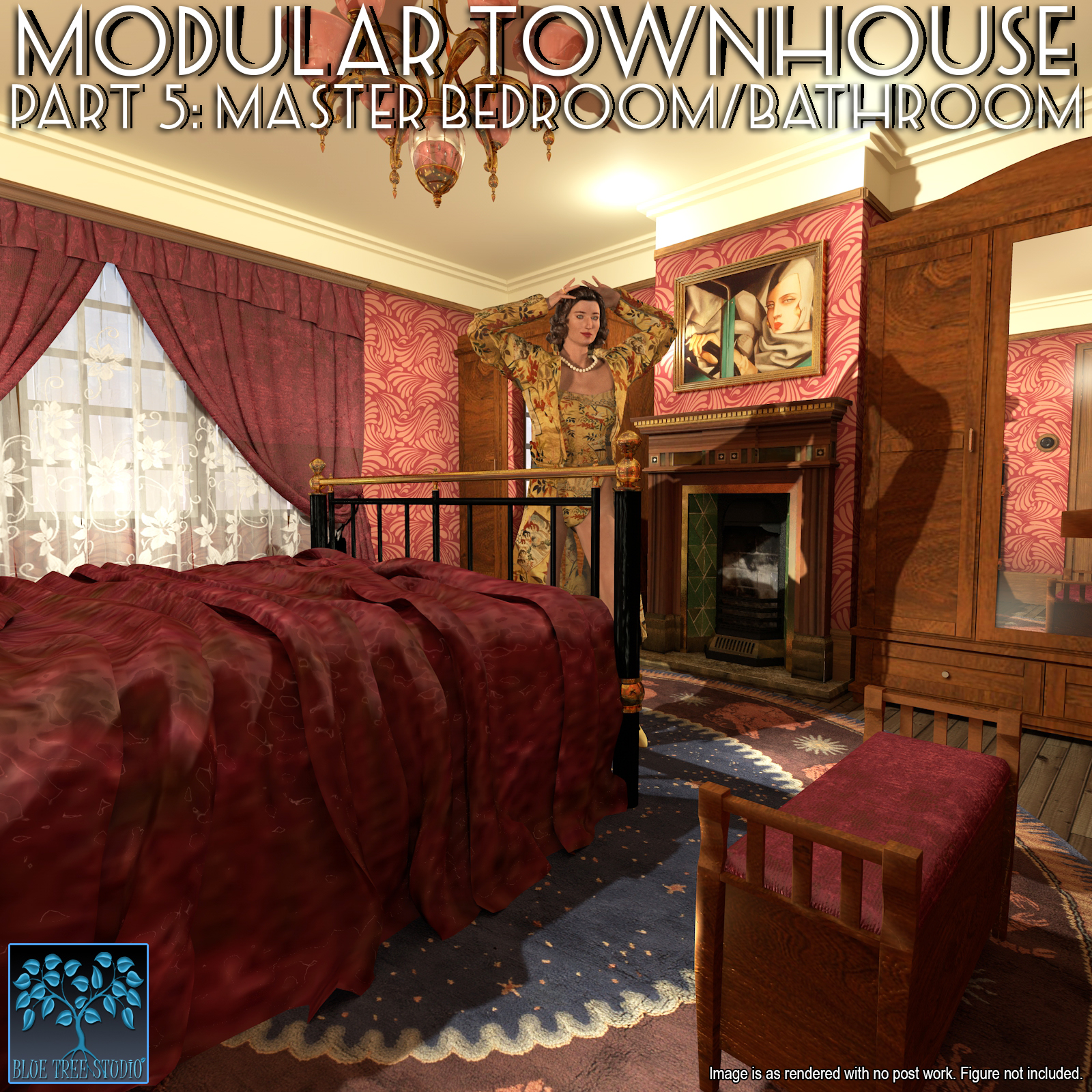 Modular Townhouse 5: Master Bedroom for Poser by BlueTreeStudio