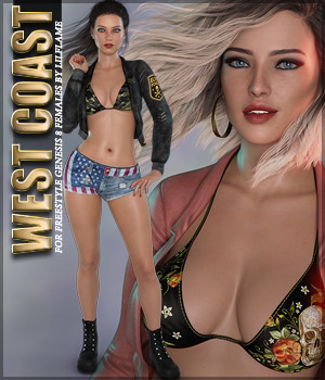 West Coast for Freestyle Genesis 8 Female 3D Figure Assets Sveva