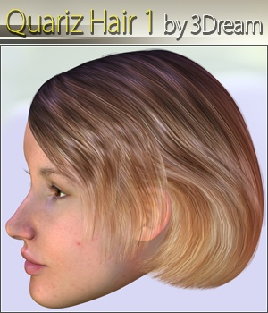 Quariz Hair 1 3D Figure Assets 3Dream