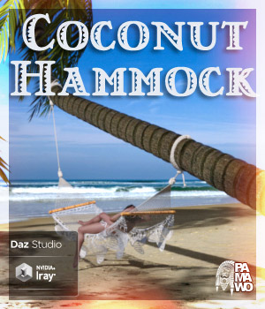 Coconut Hammock for DS 3D Models pamawo