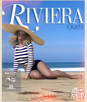 Riviera Outfit for GF3 3D Figure Assets pamawo