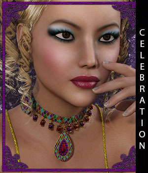 Celebration for Pepper Jewelry 3D Figure Assets sandra_bonello