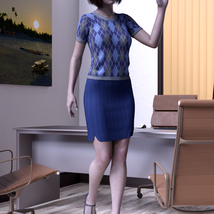 dForce 9 to 5 outfit for G8F image 4