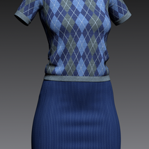 dForce 9 to 5 outfit for G8F image 5