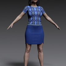 dForce 9 to 5 outfit for G8F image 8