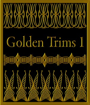 Golden Trim Collection 01 Merchant Resource 2D Graphics Merchant Resources karanta