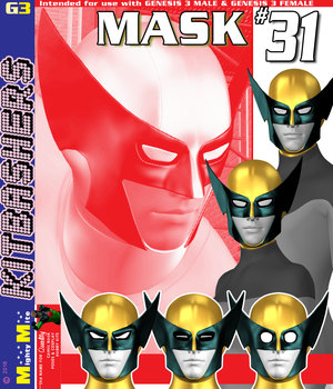 Mask 031 MMKBG3  3D Figure Assets MightyMite