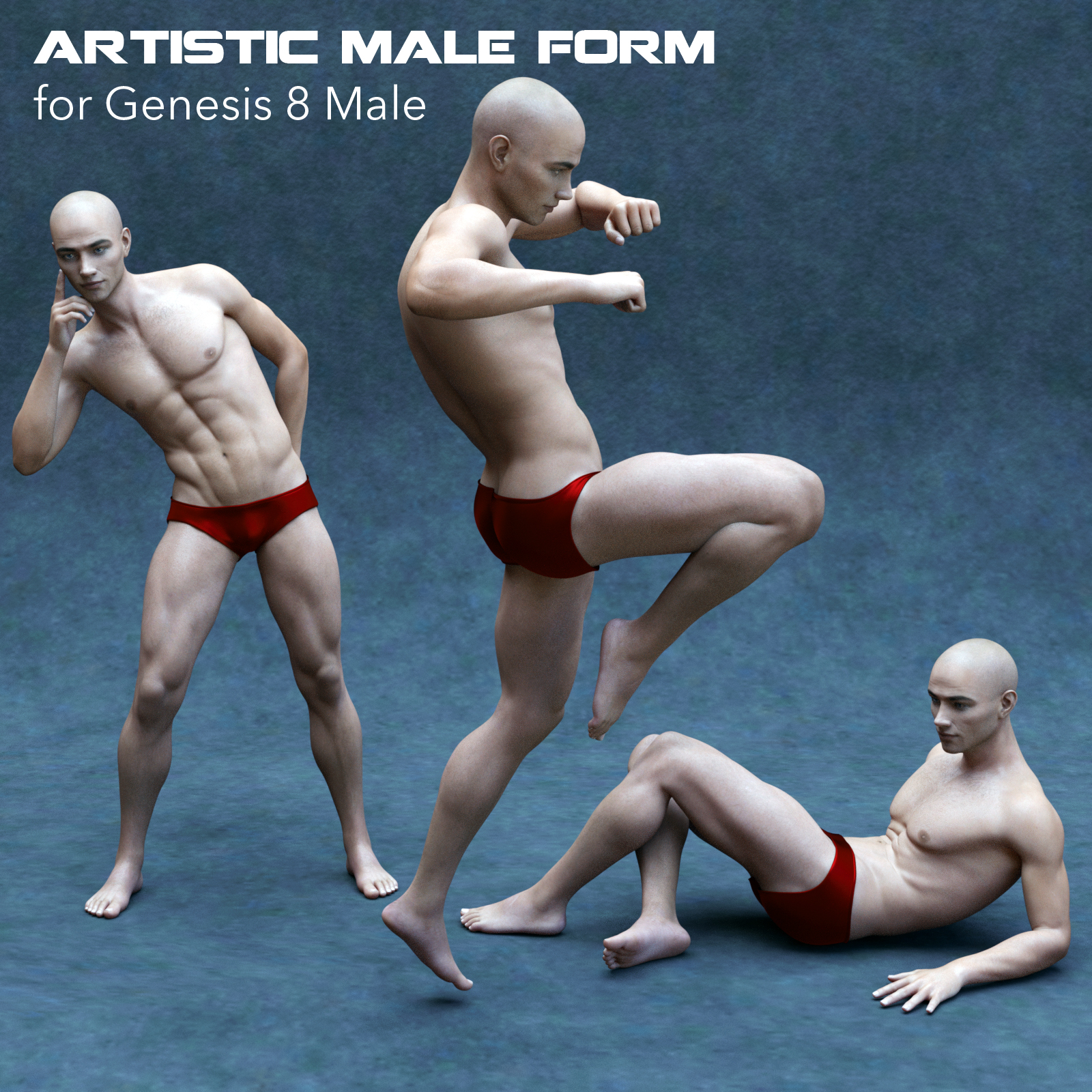 Artistic Male Form for Genesis 8 Male by P7ArtJ5