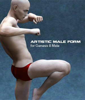 Artistic Male Form for Genesis 8 Male 3D Figure Assets P7ArtJ5
