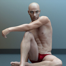 Artistic Male Form for Genesis 8 Male image 1
