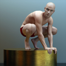 Artistic Male Form for Genesis 8 Male image 3