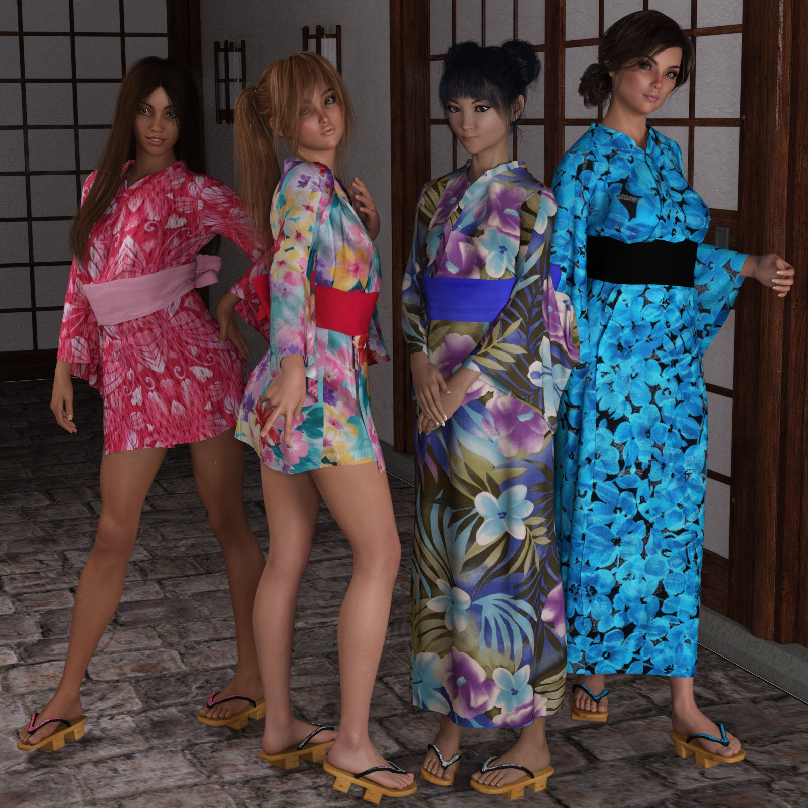 dForce Yukata for Genesis 8 Female by Deacon215