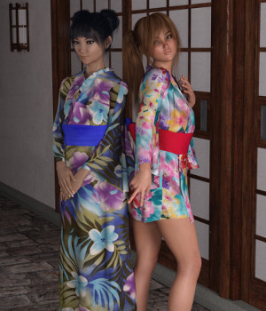 dForce Yukata for Genesis 8 Female 3D Figure Assets Deacon215