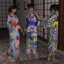 dForce Yukata for Genesis 8 Female image 1