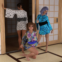 dForce Yukata for Genesis 8 Female image 3