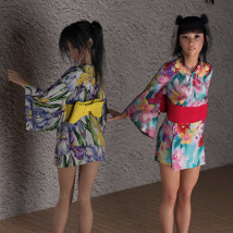 dForce Yukata for Genesis 8 Female image 4