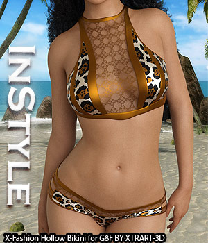 InStyle - X-Fashion Hollow Bikini for Genesis 8 Females