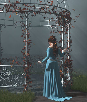 Romantic Gazebo for Poser and Daz Studio