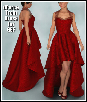 dForce - Train Dress for G8F 3D Figure Assets Lully