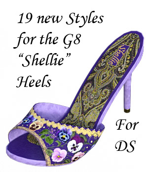 Painted Shellie Heels 3D Figure Assets lwperkins