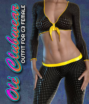 Exnem Ole Clubwear for G3 Female 3D Figure Assets exnem