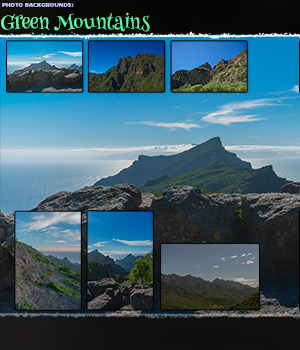 Photo Backgrounds: Mountains of Green