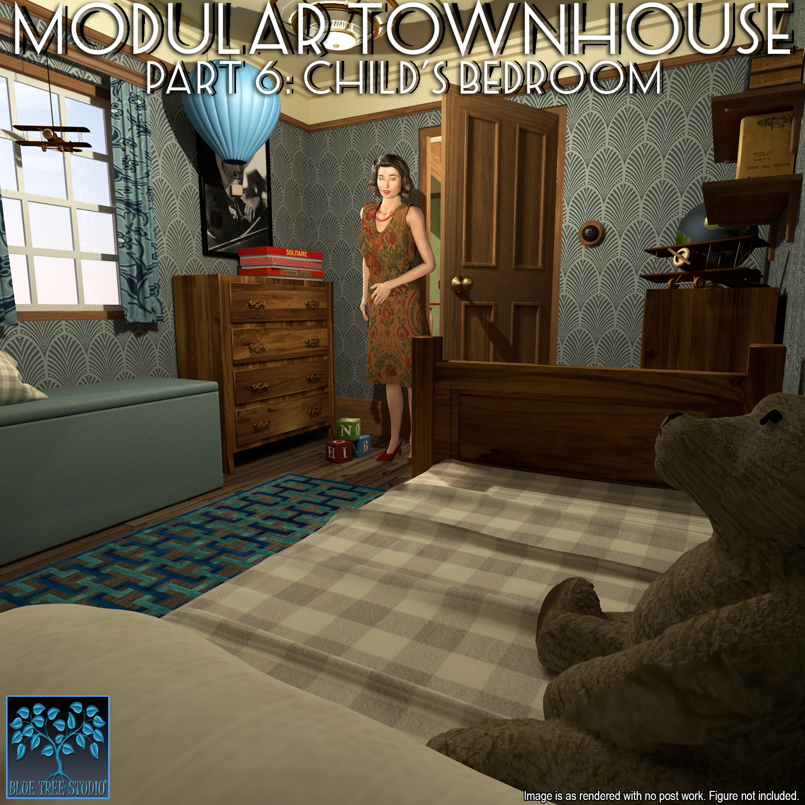 Modular Townhouse 6: Child's Bedroom for Poser by BlueTreeStudio