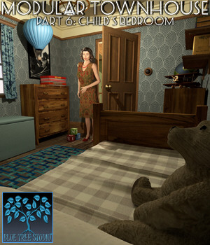 Modular Townhouse 6: Child's Bedroom for Poser