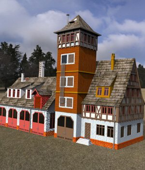 Fire Station - for DAZ Studio