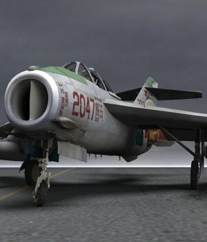 MiG-17 Fresco F - for Poser  3D Models VanishingPoint