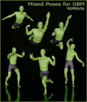 Mixed Poses for Genesis 8 Male 3D Figure Assets RAMWolff
