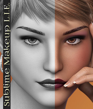 Sublime Makeup L.I.E. 2D Graphics 3D Figure Assets 3DSublimeProductions