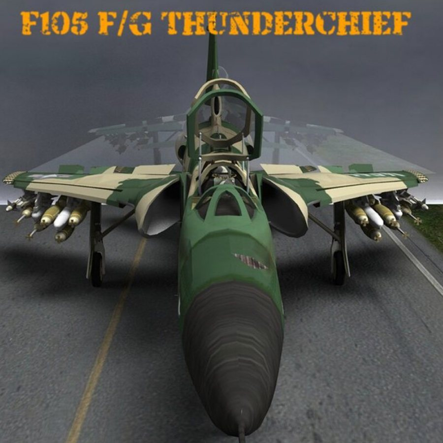 F105F/G Thunderchief - for Poser by VanishingPoint