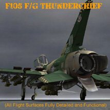 F105F/G Thunderchief - for Poser image 2
