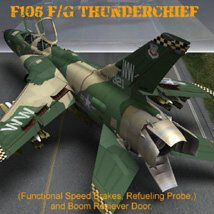 F105F/G Thunderchief - for Poser image 3