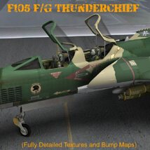 F105F/G Thunderchief - for Poser image 6