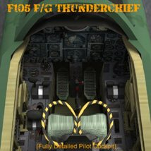F105F/G Thunderchief - for Poser image 9