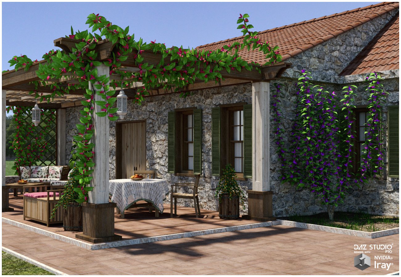 Garden Patio for Poser and DAZ Studio