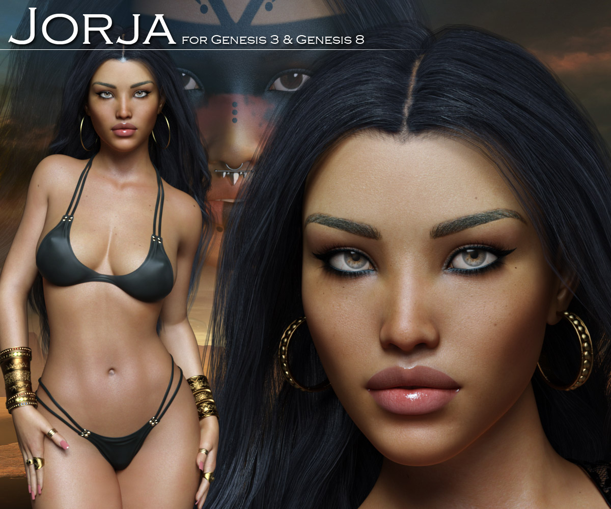 Jorja for Genesis 3 and Genesis 8 Females