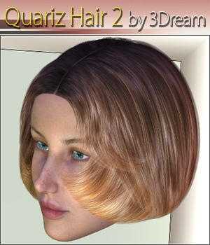 Quariz Hair 2 3D Figure Assets 3Dream
