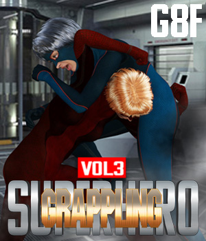 SuperHero Grappling for G8F Volume 3 3D Figure Assets GriffinFX